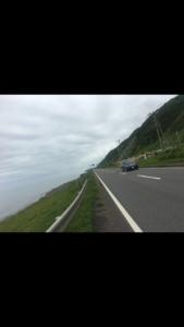 北海道,自転車,チャリダー,聖地, オロロン街道, 地平線,空一面,