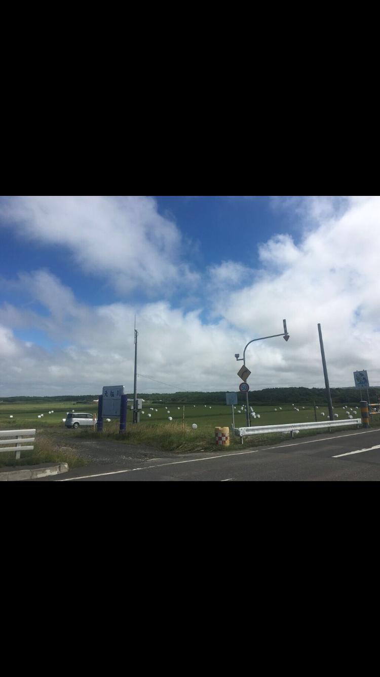 雲, 地平線, オロロン街道, チャリダー, 北海道, 自転車旅