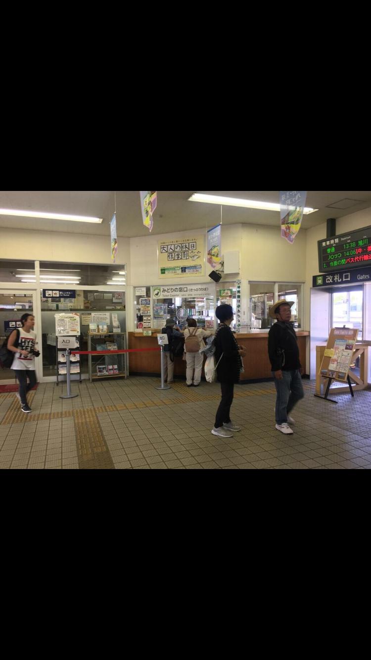 意外と外国人旅行者の方が多い富良野駅