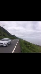 北海道,自転車,チャリダー,聖地, オロロン街道, 地平線,空一面,絶景